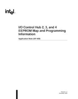 AP-409 - I/O Control Hub 2, 3, 4 EEPROM Map: Application Note