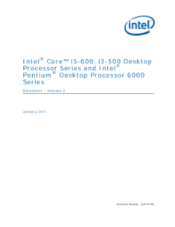 Intel® Core™, Pentium® Desktop Processor Series: Datasheet, Vol. 2