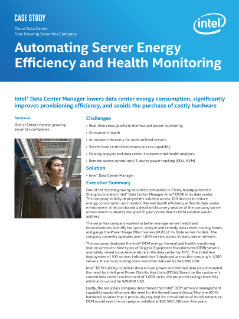 Automating Server Energy Efficiency and Health Monitoring