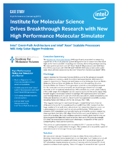 Breakthrough Research with High Performance Molecular Simulator