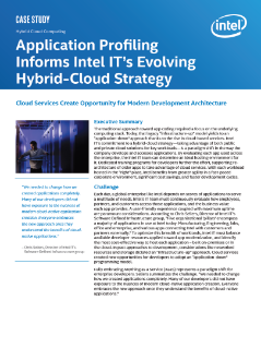 Application Profiling Shapes Intel IT Cloud Strategy