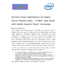 Baidu Optimizes Rack Server Density