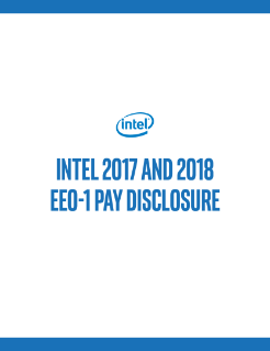 Intel 2017 and 2018 EEO-1 Pay Disclosure