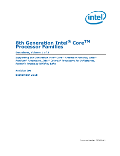 8th Gen Intel® Core™ Processor Family Datasheet, Vol. 1