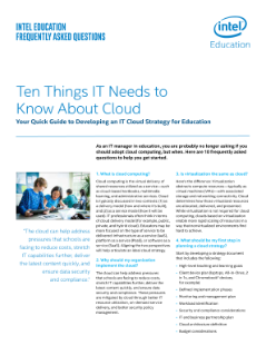 Ten Things IT Needs to Know About Cloud