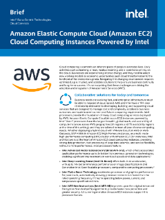 Amazon EC2 Cloud Computing Powered by Intel