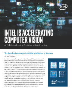 Intel Is Accelerating Computer Vision
