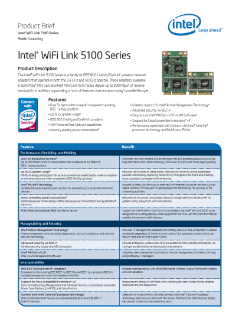 Product Brief: Intel Wi-Fi Link 5100