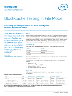 Apache HBase* Uses BlockCache in File Mode for Performance Testing