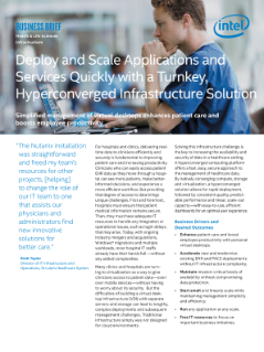 Hyperconverged Healthcare Solutions from Intel and Nutanix