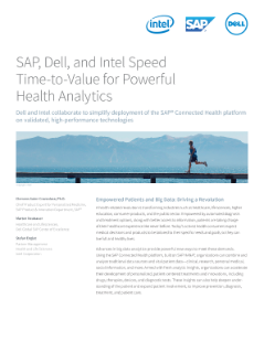 SAP, Dell, and Intel Partner for Powerful Health Analytics