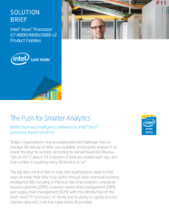 SOLUTION BRIEF Intel® Xeon® Processor  E7-8800/4800/2800 v2  Product Families