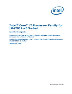 Intel® Core™ i7 Processor Family for LGA2011-3 Socket Spec Update