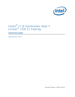 ® Intel I/O Controller Hub 7 ® (Intel ICH 7) Family Specification Update