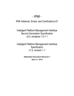 IPMI Addenda, Errata, and Clarifications E7
