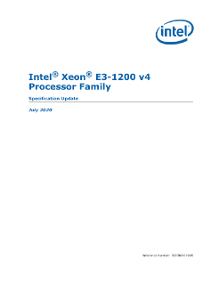 Intel® Xeon® E3-1200 v4 Processor Product Family Specification Update