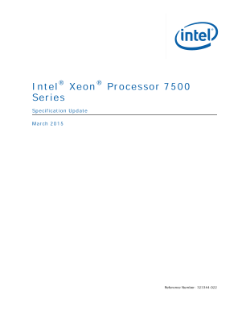 ® ® Intel Xeon Processor 7500 Series Specification Update
