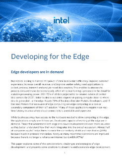 Developing for the Edge