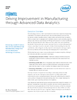 Advanced Analytics for Manufacturing
