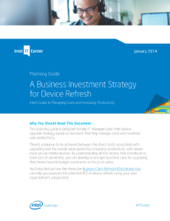 Business Investment Strategy for Device Refresh