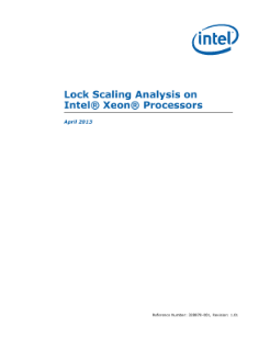 Lock Scaling Analysis on Intel® Xeon® Processors